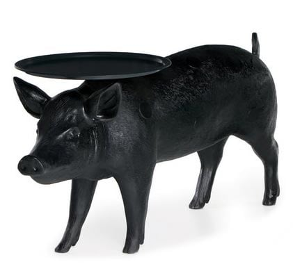 We have to have at least one barnyard friend in the mix, don't we? My nomination is the pig, seen here in a Moooi Pig Table ($2,500).