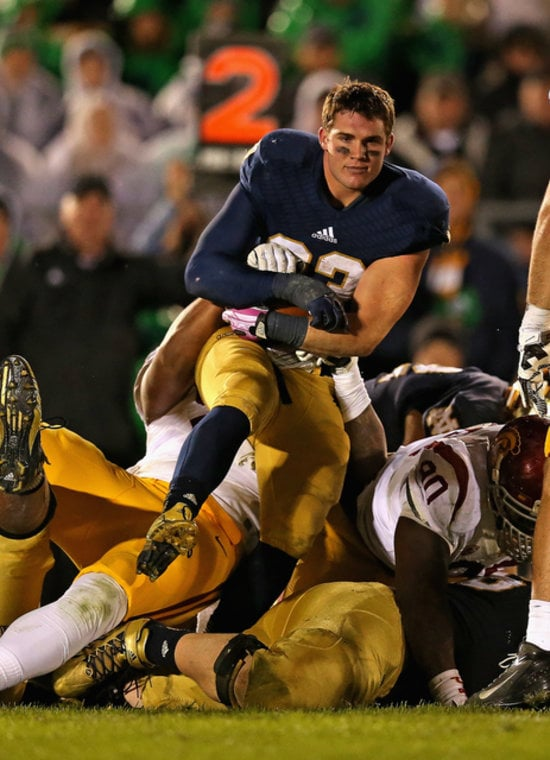 Cam McDaniel became on overnight star after taking a very photogenic picture during his football game.