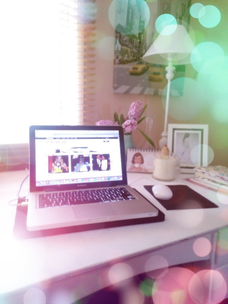 Gen's home office, made prettier by some nifty app work!