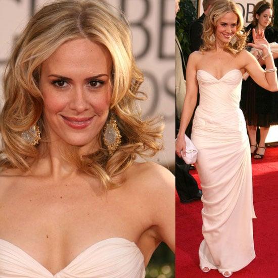 The Golden Globes Red Carpet: Sara Paulson
