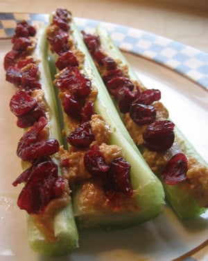 Snack Attack:  Red Ants on a Log