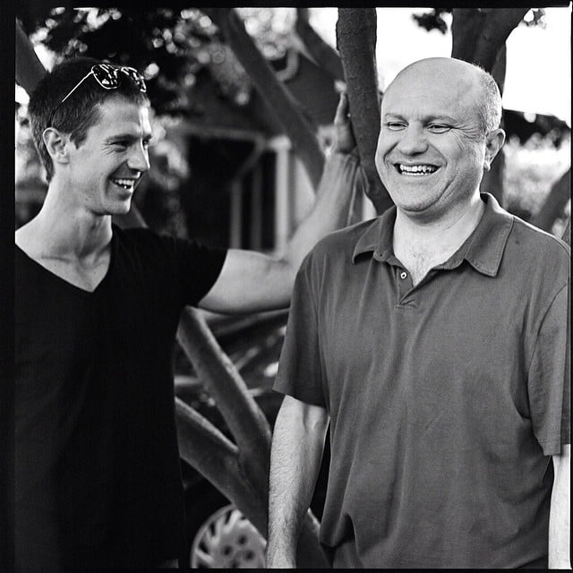 Aw, the ex-boyfriend and the dad, sharing a laugh. Source: Instagram user mrchrislowell