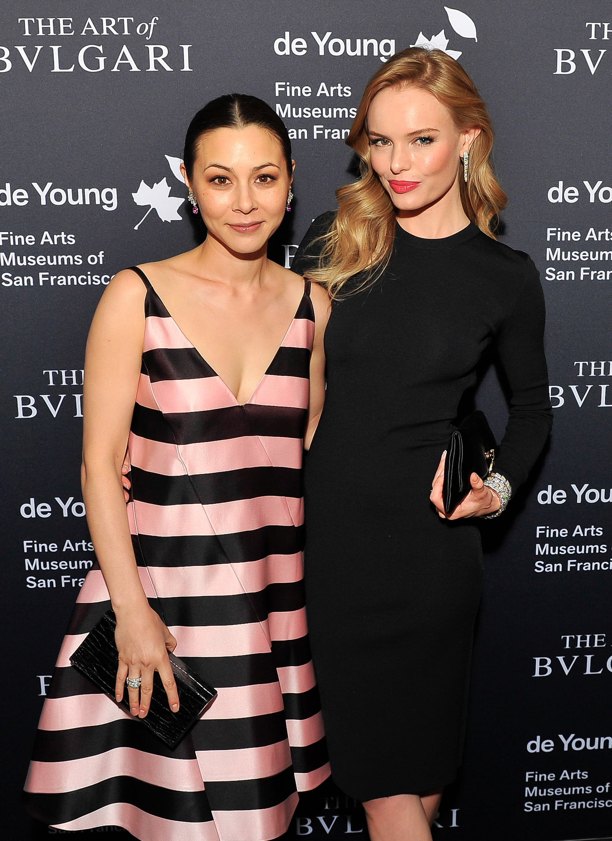 Kate Bosworth posed with China Chow at the Bulgari event.