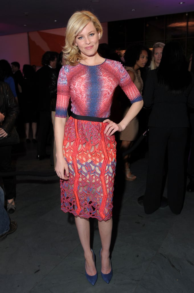 Ever the style chameleon, Elizabeth Banks posed in a Spring '12 Peter Pilotto creation — proving once again that she can rock the brightest and boldest prints.