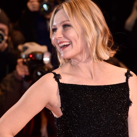 Kirsten Dunst Wearing Black Sparkly Dress