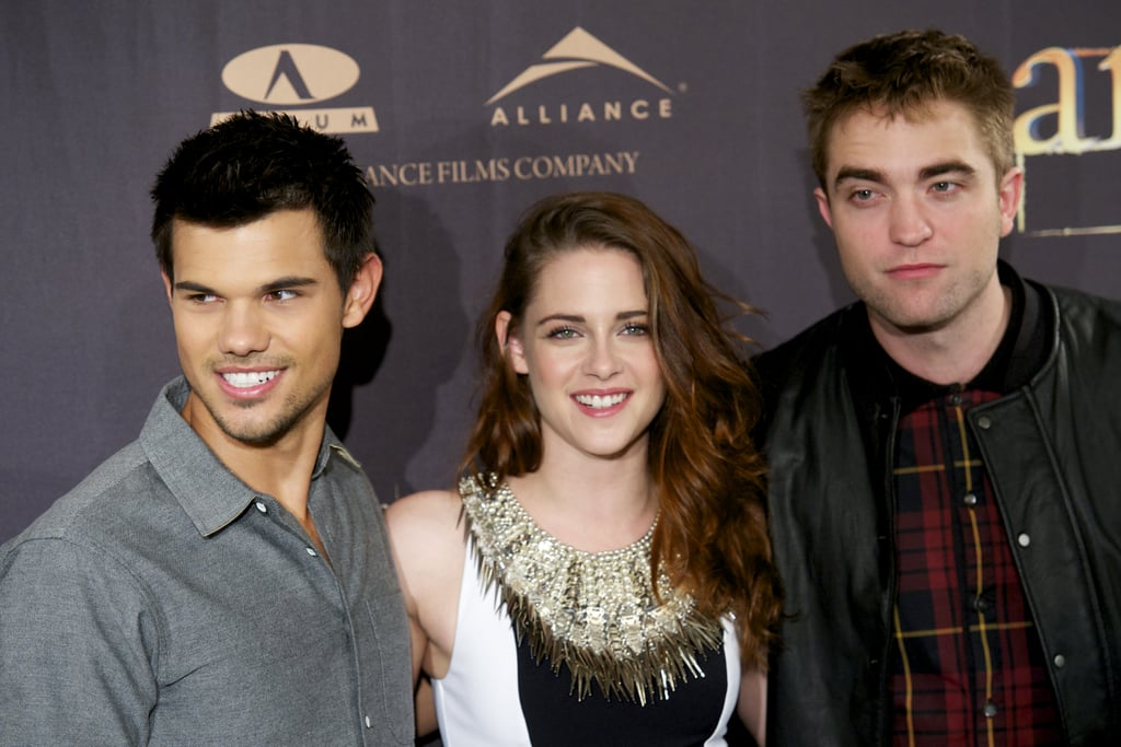 Taylor Lautner, Kristen Stewart and Robert Pattinson were in Madrid to promote Breaking Dawn —Part 2.