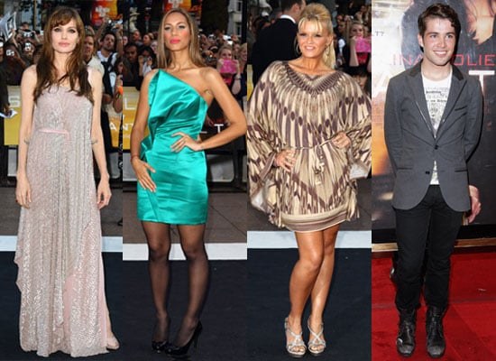 Pictures of Angelina Jolie, Joe McElderry, Leona Lewis and Kerry Katona at the UK Premiere of Salt