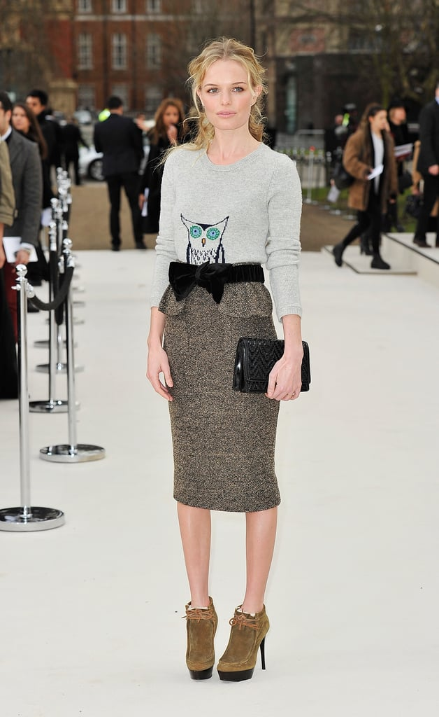Kate Bosworth looking fabulous during 2012 New York Fashion Week.