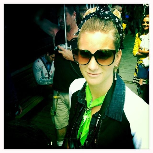 Dianna Argon posted a picture of cast mate Heather Morris.
