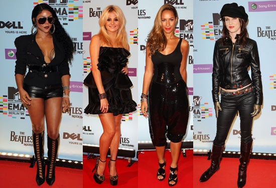 Extensive Photo Gallery of Celebrities at 2009 MTV EMAs Red Carpet, Pictures of Katy Perry, Beyonce, Leona
