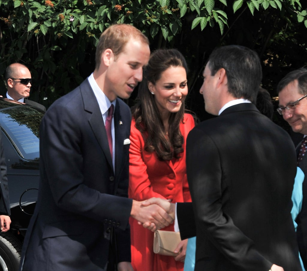 Kate Middleton and Prince William thanked their hosts.