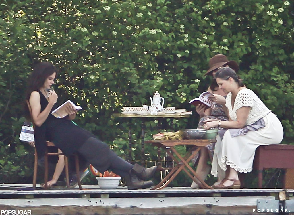 Katie Holmes and two fellow actors shot a scene together in Connecticut.
