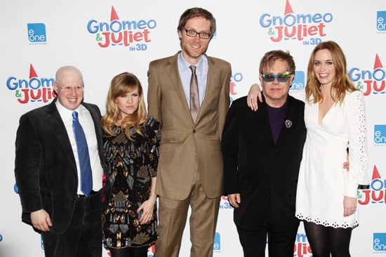 Pictures of Emily Blunt, Matt Lucas, Sir Elton John, Stephen Merchant, Elizabeth Hurley from the UK Gnomeo and Juliet Premiere
