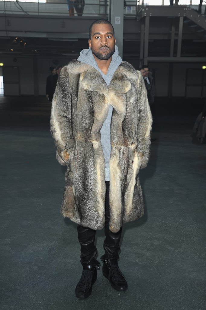 Kanye West at the Givenchy menswear show.