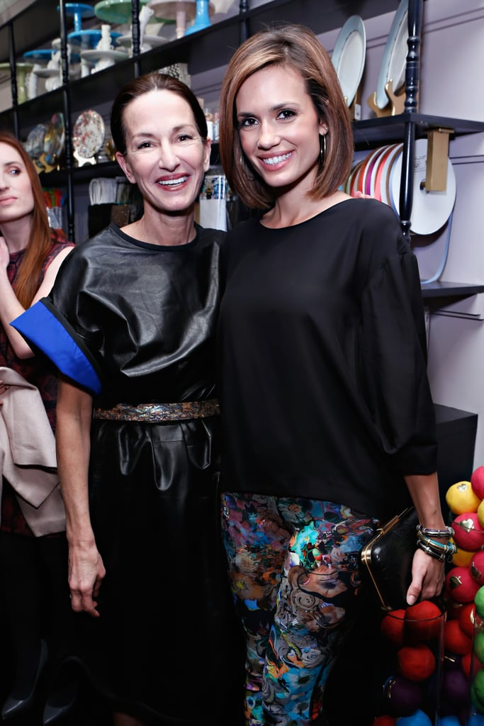Torrey Devitto posed backstage with Cynthia Rowley on Sunday.