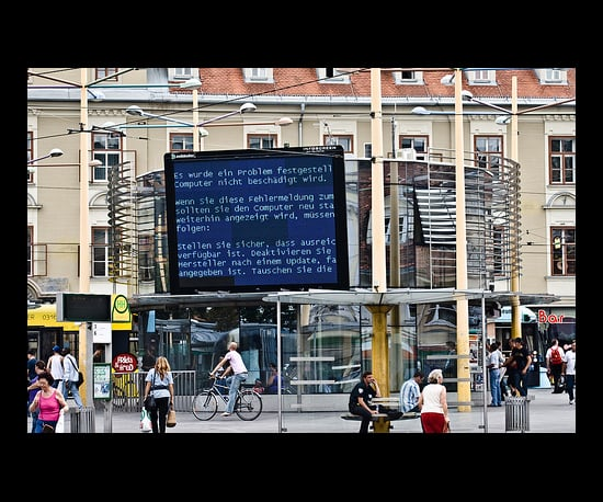 BSOD in a City Center in Germany