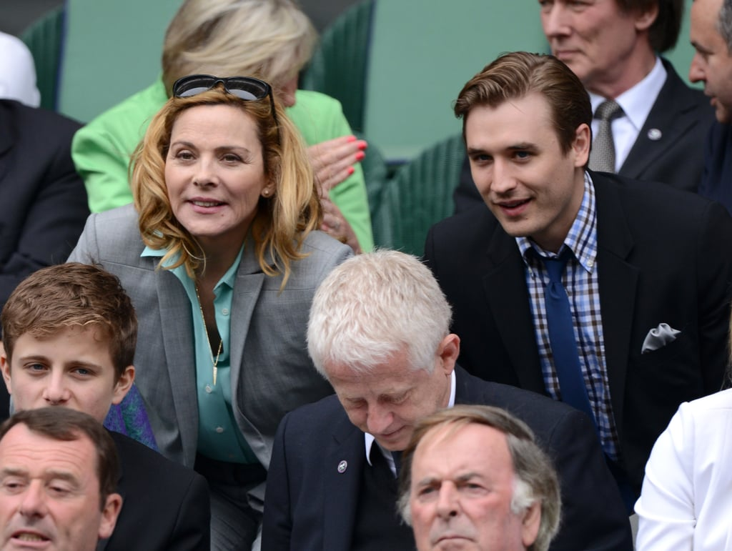 Kim Cattrall and actor Seth Numrich sat side by side on day eight Tuesday.
