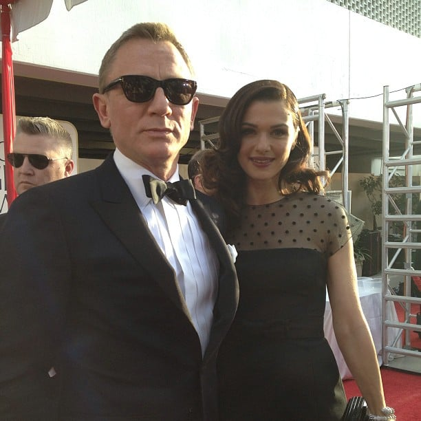Daniel Craig (in a hot pair of shades) hit the Golden Globes red carpet with wife Rachel Weisz. Source: Instagram user goldenglobes