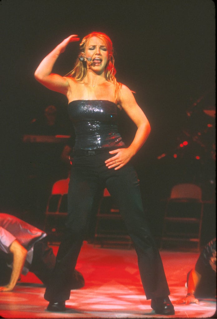 In September 1999, Britney showed off her muscular arms at a Rising Star concert in LA.