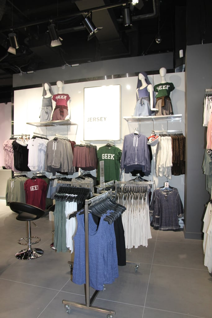 The Jersey section on the ground floor is where you'll find the best basics. Think oversized muscle tanks, slogan tees, hoodies and singlets.