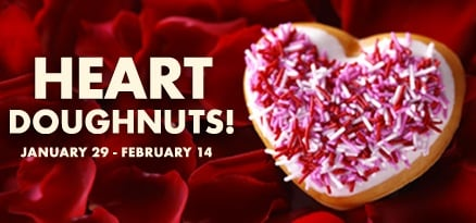 Heart-Shaped Doughnuts from Krispy Kreme