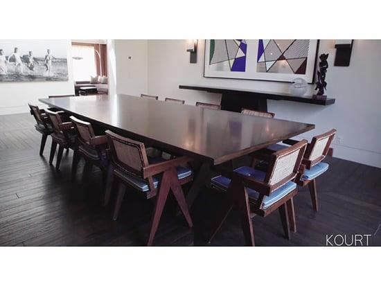 Look Inside Kourtney Karashian's Modern, Luxurious and Comfortable Living and Dining Rooms