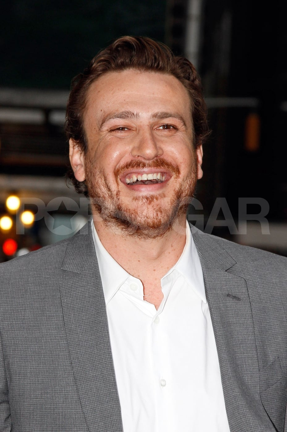Jason Segel had a laugh on his way to meet Michelle Williams for a dinner date in NYC.