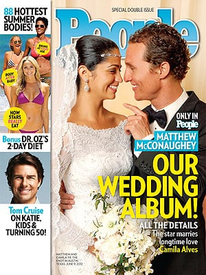 After two children together and five years of dating, Matthew McConaughey and Camila Alves walked down the aisle at their home in Austin, TX, in June 2012.
