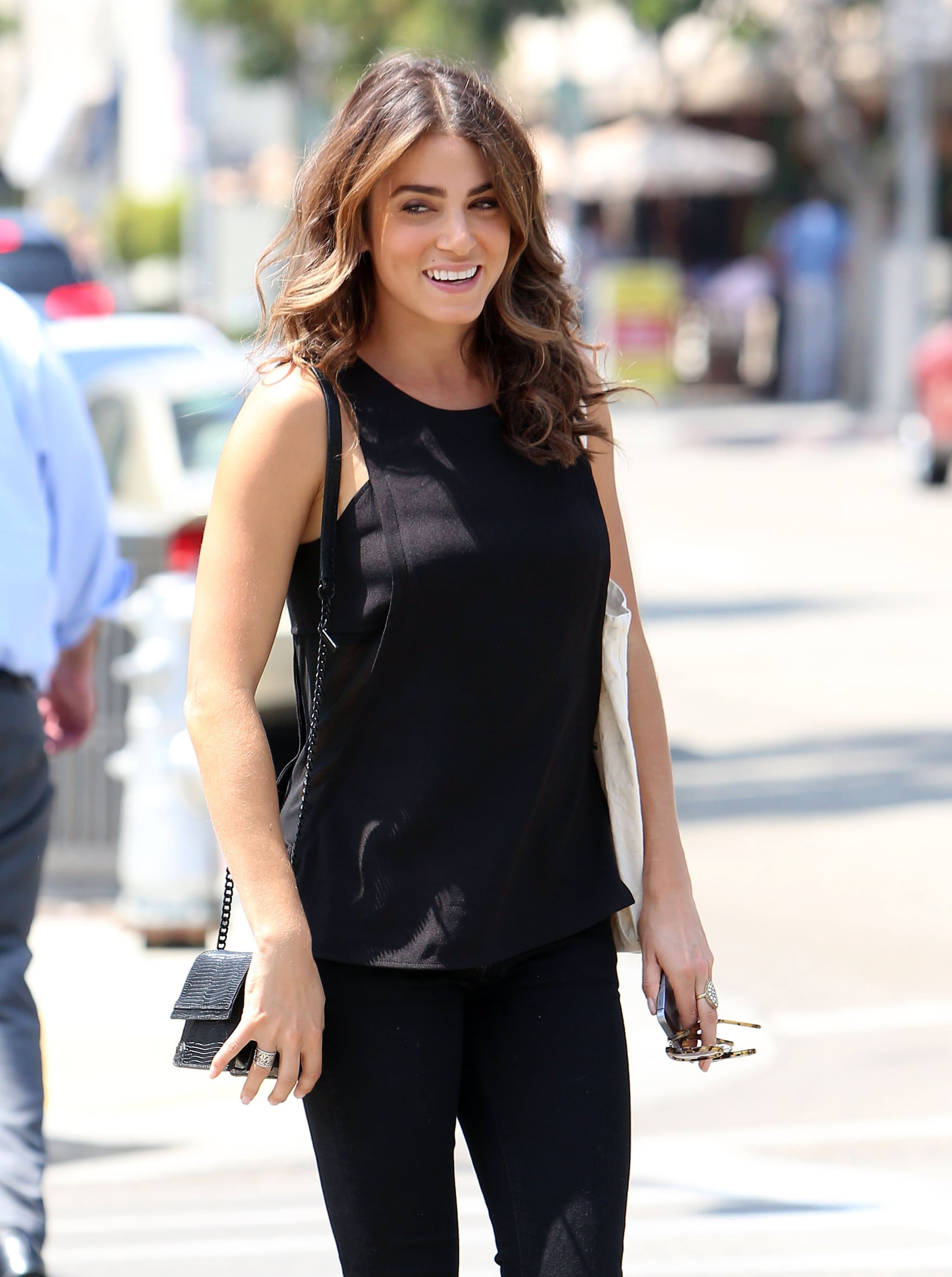On Friday, Nikki Reed lit up with a smile when she stepped out in LA.