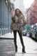 Borrow from a little model-off-duty style and add luxe with a furry topper — then elongate those stems with skinny black jeans and black booties. Source: Le 21ème   Adam Katz Sinding