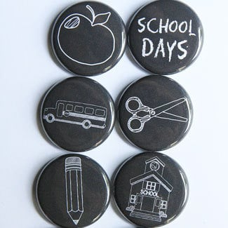 Chalkboard School Bags, Supplies, and More