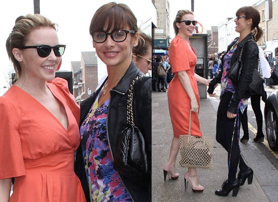 Photos of Kylie Minogue and Natalie Imbruglia in London as Natalie Preps For London Marathon and Kylie Releases New Single