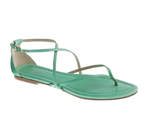 Superthin straps and a cool turquoise shade make these sleek sandals a must-have.  J.Crew Audra Sandals ($98)