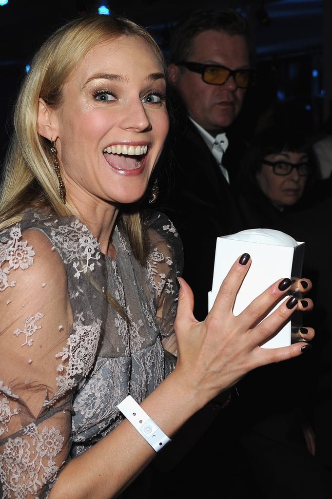 Diane Kruger was excited to be at the Sidaction dinner.