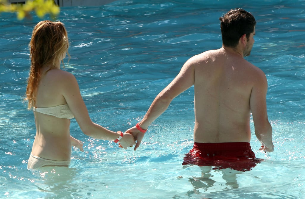 Whitney Port went swimming with a mystery man.