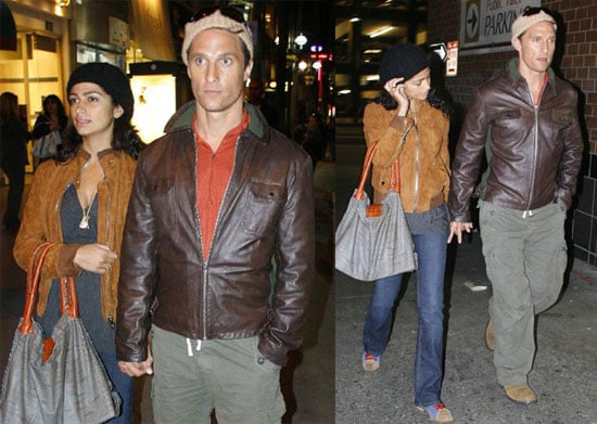 Matthew and Camila's Casual Leather Coated V-Day