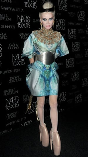 Photo of Daphne Guinness Wearing Alexander McQueen to Nars 15X15 Party in NYC