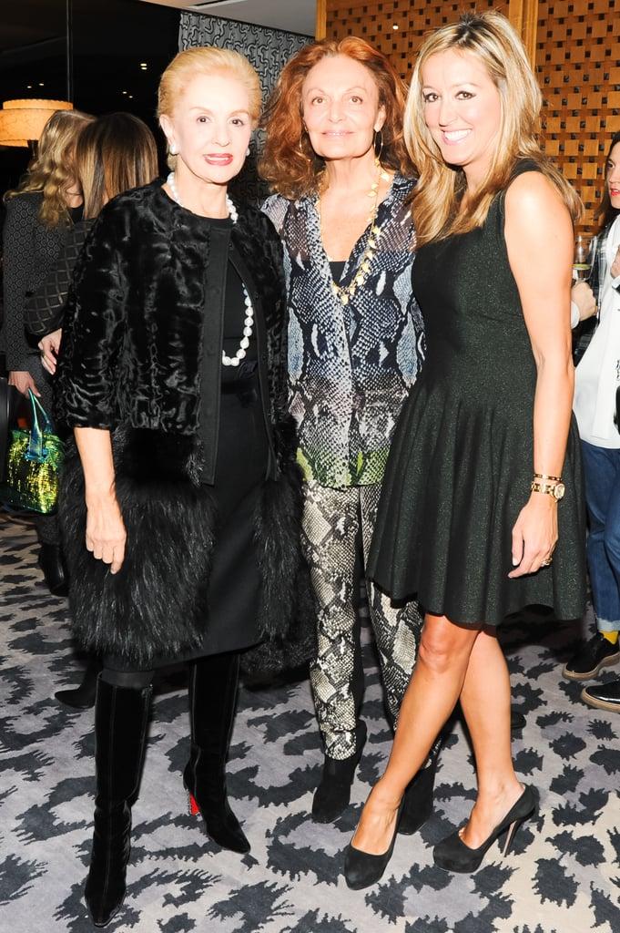 Carolina Herrera, Diane von Furstenberg, and Marigay McKee attended the CFDA bash for McKee.