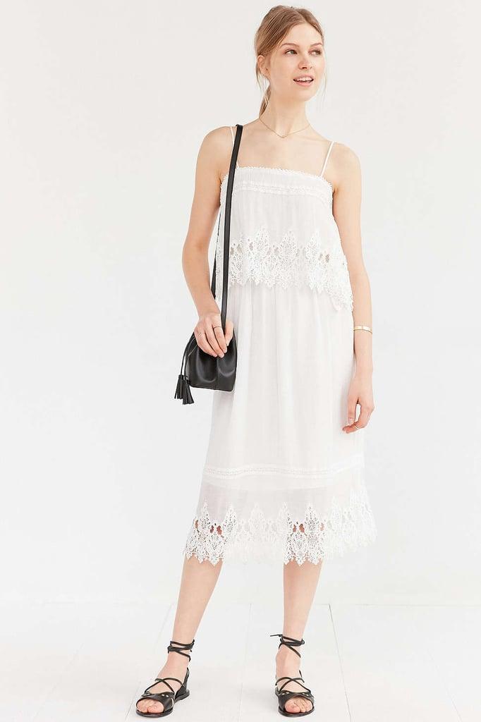 Moon River Lace Overlay Midi Dress ($79)