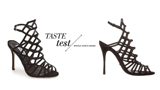 Can You Tell Which Caged Heels Cost $100 More Than The Other?