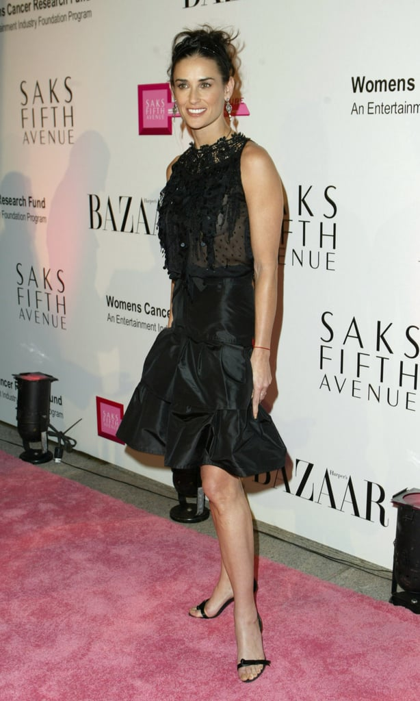 Embellished and black for a Saks event in '03.