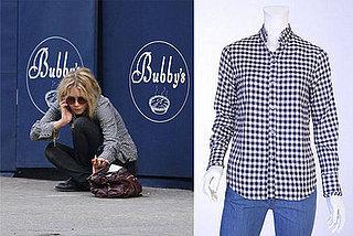 Found! Mary-Kate Olsen's Steven Alan Flannel Ruffle Shirt