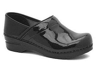Simply Fab: Sanita Black Patent Leather Clog