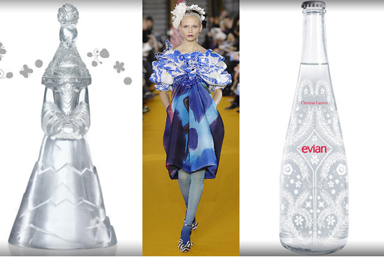 Simply Fab: Christian Lacroix Evian Bottles