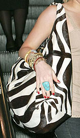 You Asked, We Found: Hilary Duff's Zebra Bag