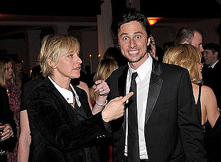 Zach Braff and Ellen DeGeneres at the Art of Elysium gala on January 12 in LA