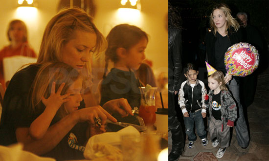 Kate Hudson And Ryder Robinson at Ryder's 4th Birthday