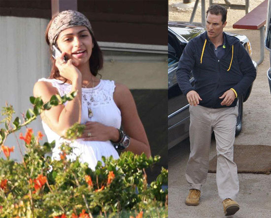 Matthew McConaughey with Pregnant Girlfriend Camila Alves