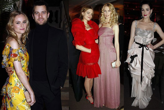 Dita Von Teese and Diane Kruger at the Sidaction AIDS Benefit in Paris on January 24, 2008