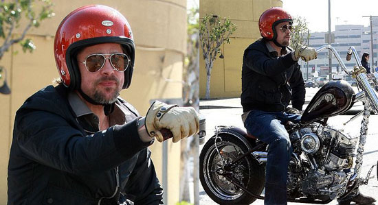 Brad Pitt, Aviators, Helmet, Leather, Bad Ass